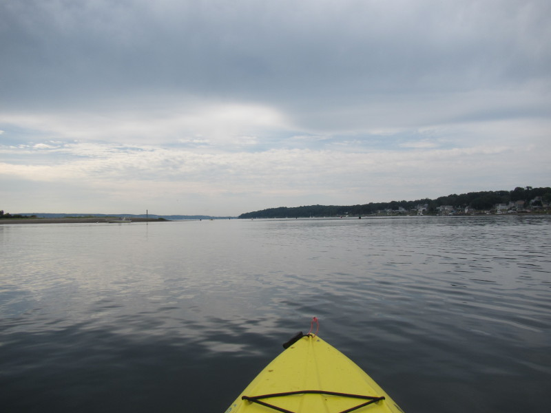 Boston Kayaker Kayaking On Kickemuit River In Bristol Ri